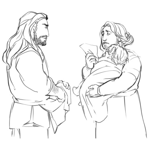 kaciart:  After reading the fic from earlier, I had to draw Fili running away because he thinks no one loves him. I'll add more story later!