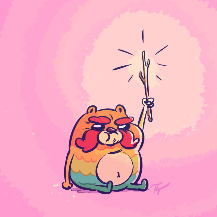// gas powered stick // Meet Impossibear, this Thursday, on Bravest Warriors.