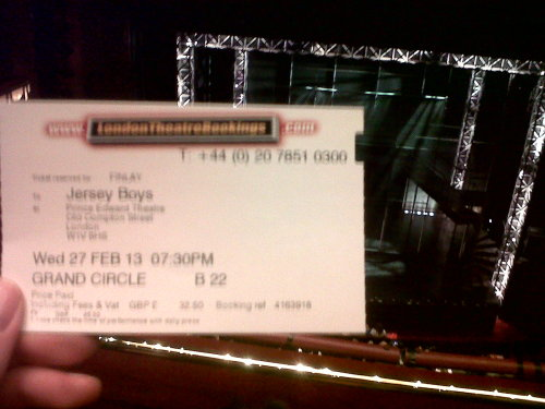 Jersey Boys in the West End.