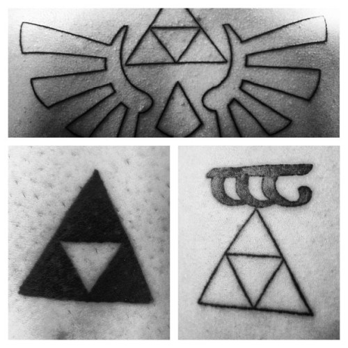 #matchingtattoos with @jakehyde7 @samwade55 #triforce #tengwar
