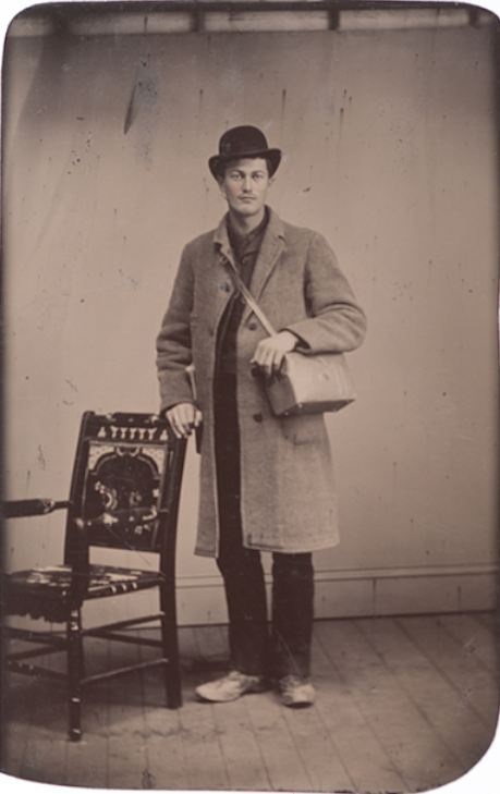 ca. 1890-1900's, [tintype portrait of a gentleman with his camera bag] via  Cowan's Auctions