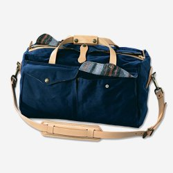 Carry This: Levi's denim duffle bag by Filson