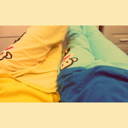 Me with #sissy!! #pyjama #coincidence #love #blue #yellow.#paulfrank   @cynthia_leee