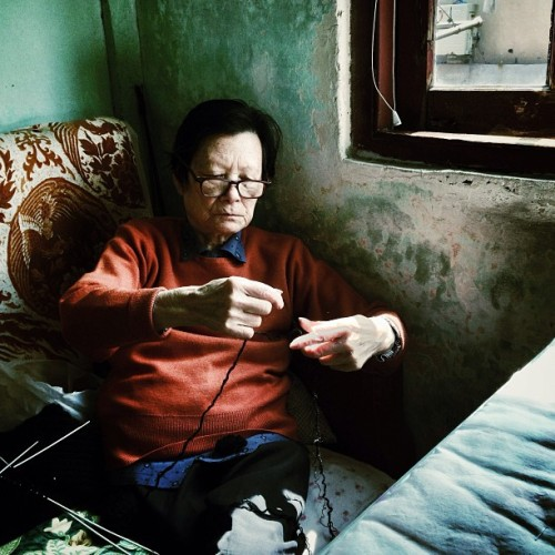 morning,grandmother #photo #photography #shanghai #family #grandmother #women #old #home #お婆さん #写真 #外婆