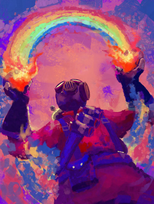 kilabytes:  Team Fortress 2's Pyro by Ashley Lange  I love playing the pyro nothing is more satisfying then killing snipers then with a pyro.