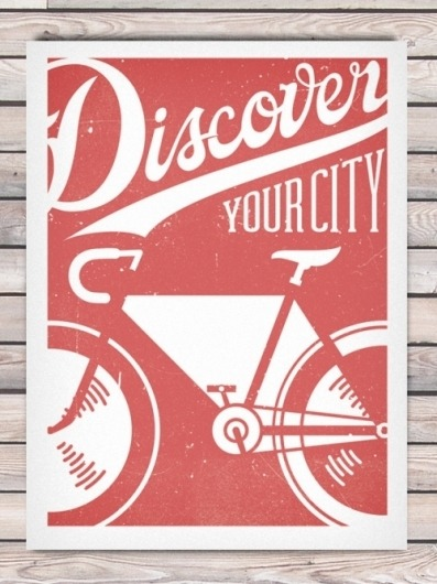 naomicoombes:  by designenvy, phoenix design very cool screenprint, and use of inverted colour for the actual bike, i like this style of typography too!