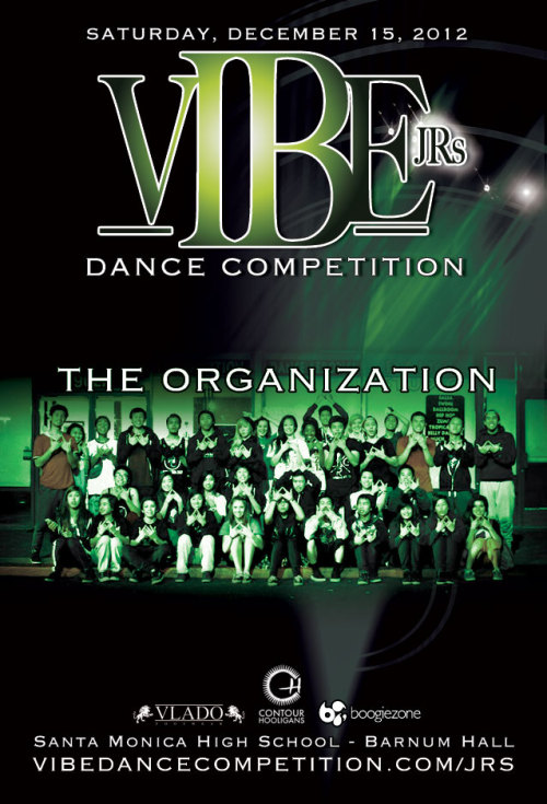 vibedancecompetition:  COMPETITION | The Organization2012 VIBE JRs Dance Competition   Portion of the proceeds will be donated to a local charity. VIBE JRS: PRESALE TICKETS: $20 NEW LOCATION: Santa Monica High School - Barnum Hall 601 Pico Blvd Santa Monica, CA 90405  CONTACT INFO:  jason@vibedancecompetition.com  Facebook Event  Facebook  Twitter