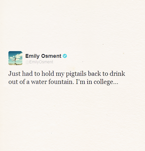 Favorite Emily tweets → 8/∞