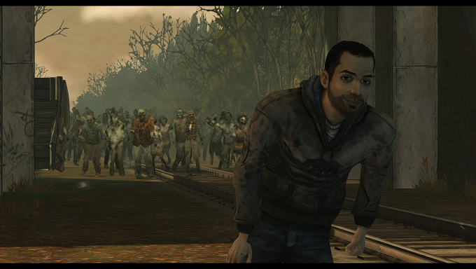 gottafindaboat:  omid being unbelievably content and photogenic, giving the camera a smile as he's about to be killed by an army of walkers. quite an inspiration. follow your dreams