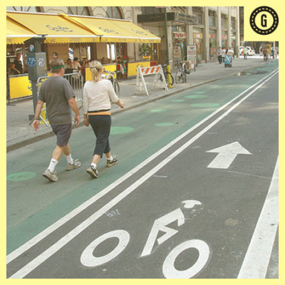 good:  Turns Out Bike Lanes Are Really Good for Local Business- Meghan Neal wrote in Business, Transportation and Cities Good news for bike activists: Making a safe place on streets for cyclists (and pedestrians) boosts sales for the small businesses in the area. This according to a recent report from the New York Department of Transportation. The study found that on commercial blocks where new bike lanes were built, the businesses saw a nearly 50 percent increase in sales. Continue reading on good.is Join us for our Fix Your Street Challenge on the last Saturday of May. Click here to say you'll Do It and be sure to share stories of transportation innovation all month.   With Citi Bike launching in NYC, we are happy to hear that new bike lanes increase sales for small businesses!