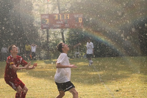 Soccer in the rain