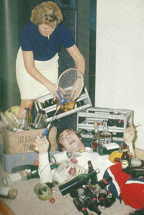 Keith Moon and mother-in-law.
