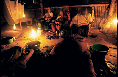 lockedknees:  Ayahuasca ceremony. fuck, I would love to experience one.