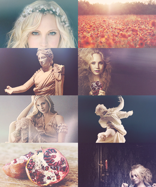 "calliopecast:  Candice Accola as Persephone.  ""And so long as she yet beheld earth and starry heaven and the strong-flowing sea where fishes shoal, and the rays of the sun, and still hoped to see her dear mother and the tribes of the eternal gods, so long hope claimed her great heart for all her trouble."""