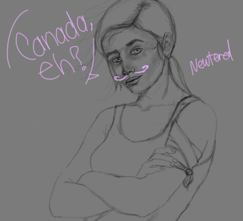 newtered:  superduper quick sketch/wip of BRENDAAAAAA. I pictured her as a badass therefore badass.
