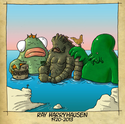Homenaje a Ray Harryhausen en la Cripta (del Horror) Innombrable.