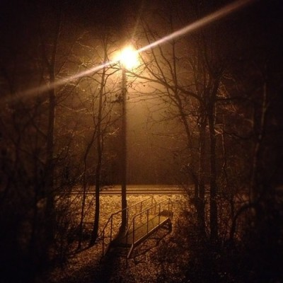 Foggy night in the bills