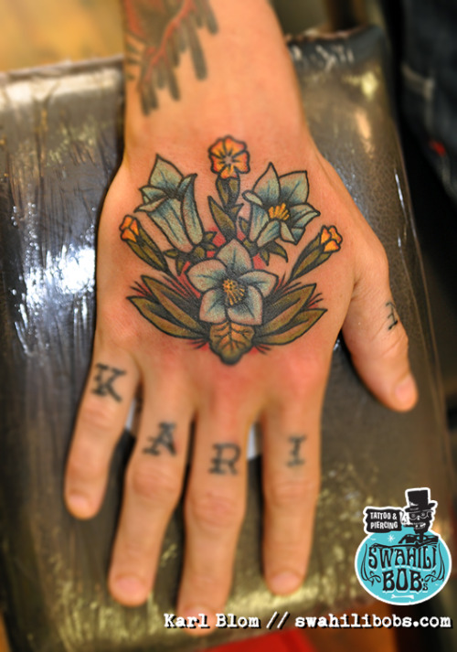 Traditional old school hand tattoo by Karl BlomView Post
