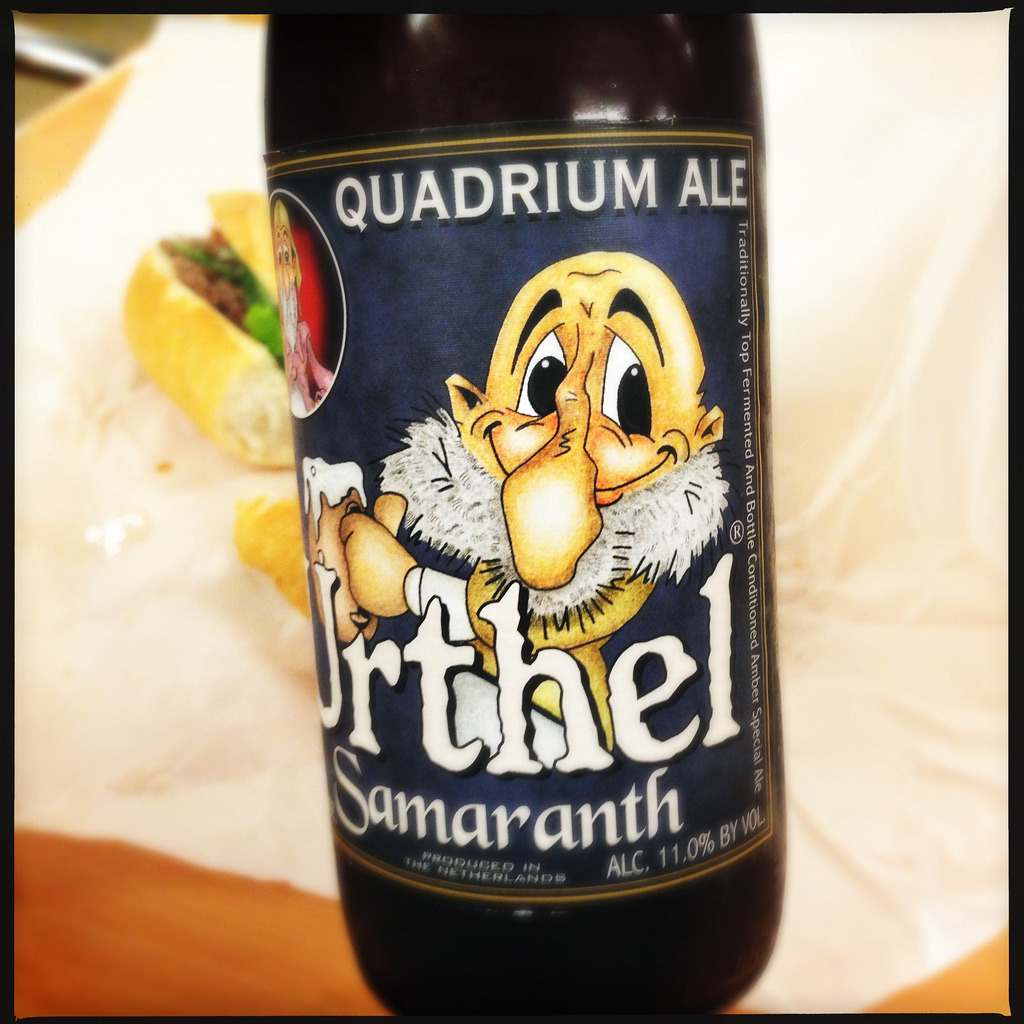 Urthel Samaranth -Quadrium Ale - Shot with my Hipstamatic for iPhone Lens: Loftus Film: DC Flash: Off - embiggen by clicking here: http://bit.ly/YbE5pt I took this photo on April 30, 2013 at 02:25PM