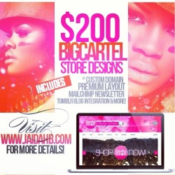 $200+ BigCartel Store Websites (own domain name not included) Order Today!