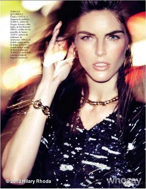 #Vogue Spain Feb 2013 by Alexi LubomirskiView more Hilary Rhoda on WhoSay