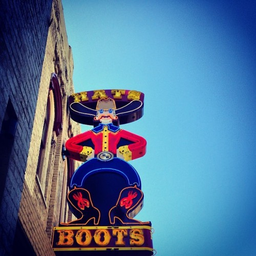 I might come home a country western gal…  (at Boot Country)