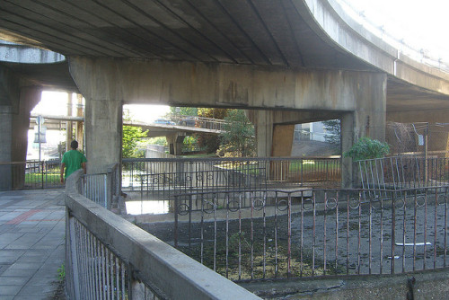 More footpaths below flyovers on Flickr.I'm missing the chaos of suburban London today. I could use a visit to Brent Cross this afternoon.
