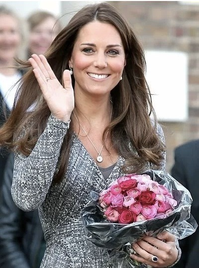 omg. OMG. Kate Middleton has said that the baby is kicking and moving that Kate MAY HAVE said she's having a DAUGHTER!!! Maybe. Click the pic for the full story, but we could have a new little princess running around!