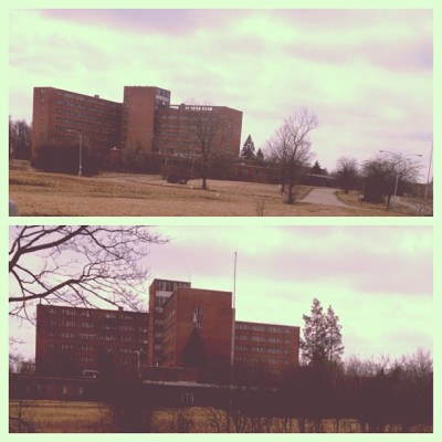 Hello abandoned psychiatric hospital, lovely day to be CREEPY AS SHIT. (at Northville Mental Hospital)