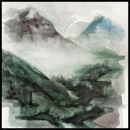 Misty mountains, landscape studies I did some months ago.