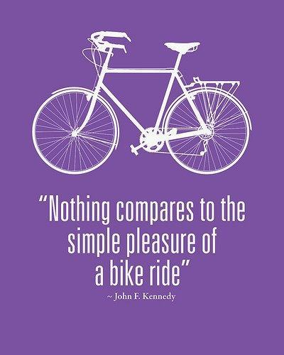 Enjoy the first day of Spring with a bike ride.
