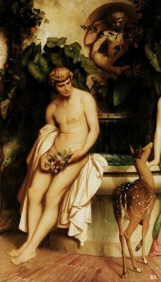 hadrian6:  Detail : Daphnis and Chloe. 1852. Jean Leon Jerome. French. 1824-1904. oil on canvas.         http://hadrian6.tumblr.com