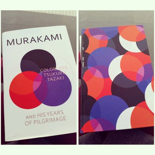 Um how gorgeous is the new #murakami novel?! With cover jacket on left, without on the right. Gorgeous. Can't wait to read it. #book #design #bookdesign