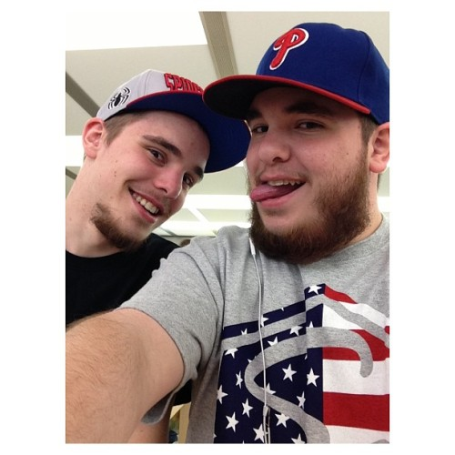 @flyrfn144 and myself playing around in the #apple store yesterday. #me #brother #dan #instagram  (at Apple Store, Willow Grove Park)