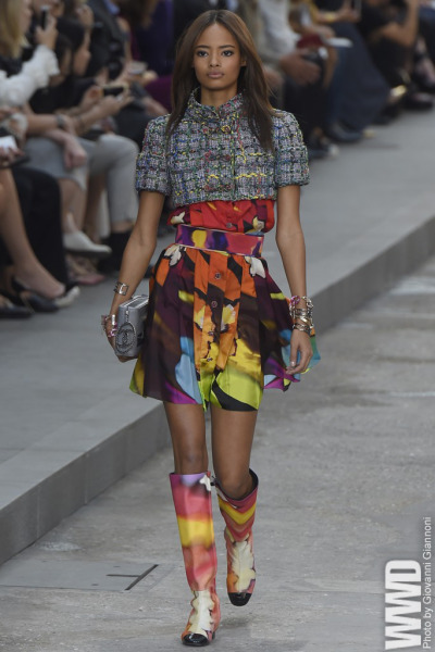womensweardaily:  Chanel RTW Spring 2015 Karl Lagerfeld played to the street-fashion shtick in high style, with a diverse, often inventive, lineup. For More For all RTW Spring 2015