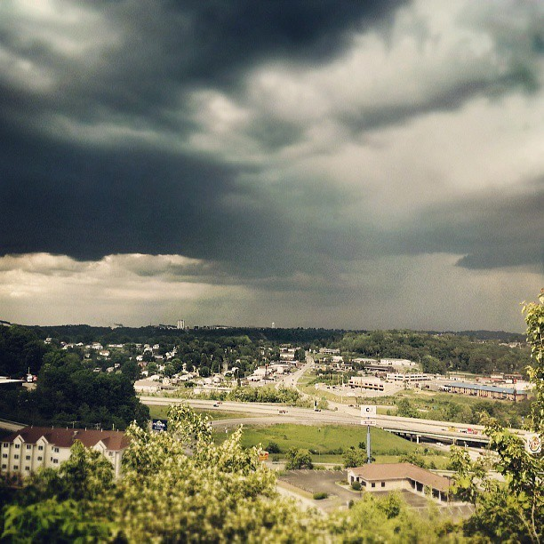Storm rolling into Morgantown as seen from Lowe's in Westover - 5/17/13. (Photo: Walt Sarkees via Instagram)