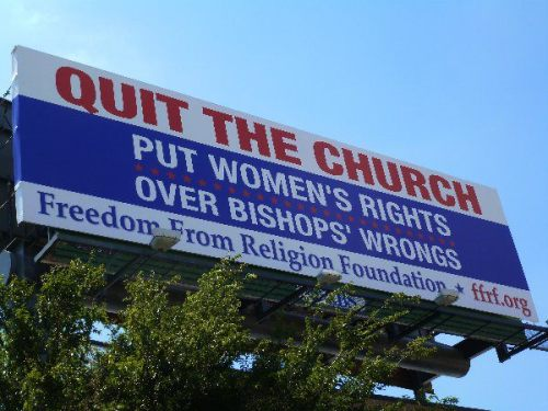 Quite the church - it's the moral thing to do.