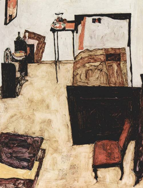 Schiele's Room in Neulengbach (1911) by Egon Schiele