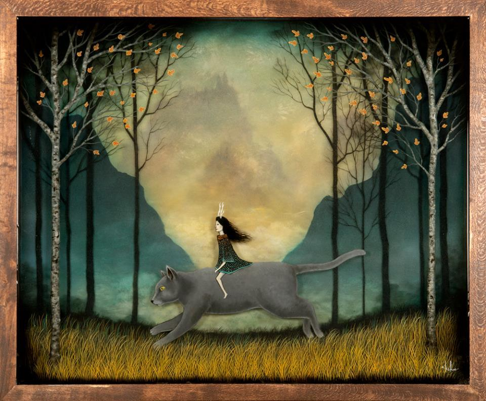 amo a este gato que me cuidaAndy Kehoe Art - Riding a Dream