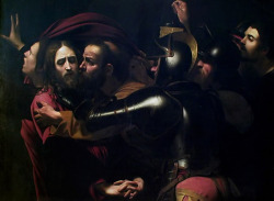 Caravaggio (1571-1610), The Taking of Christ, 1602, National Gallery of Ireland.