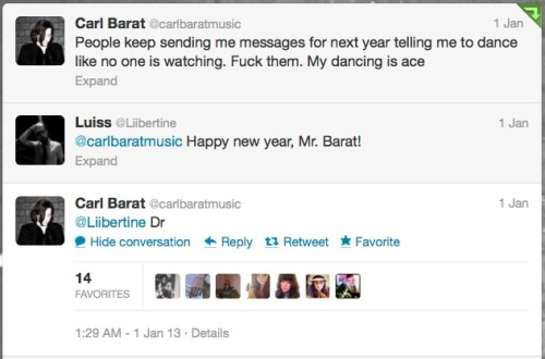 kissograminchucks:  Carl Barat's twitter may be approaching Coxon-esque levels of sass.