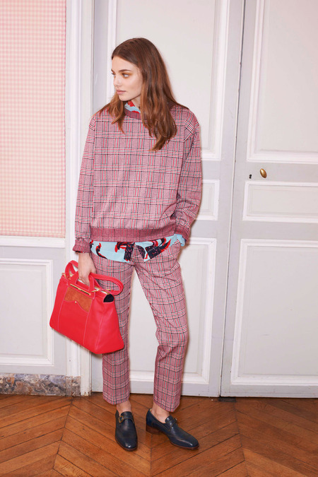 Getting preppy in plaid at See By Chloe for Pre-Fall 2014