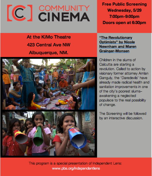 Save the Date for KNME's Community Cinema at the KiMo on May 29th at 7pm. We are proud to sponsor this series of  free public screenings!