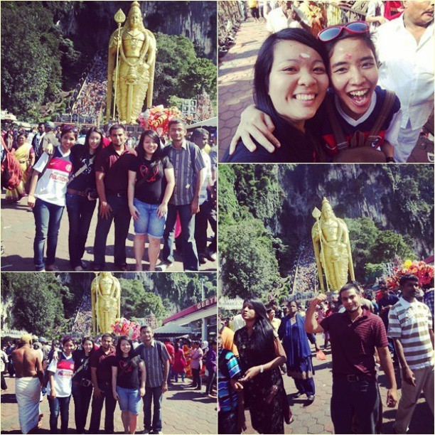 The #Thaipusam gank !!! @cheeyan_90, Rachael, Rahul, Irfan. They are another big reason why I shud back to KL. Photo taken from @cheeyan_90's camera #friendship #friends