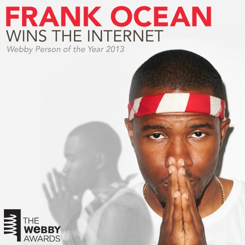 Congrats to Frank on being named The Person of the Year at The Webby Awards!