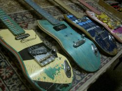 wormh0les:  guitars made from recycled skateboards, possibly the coolest fucking thing I have ever seen