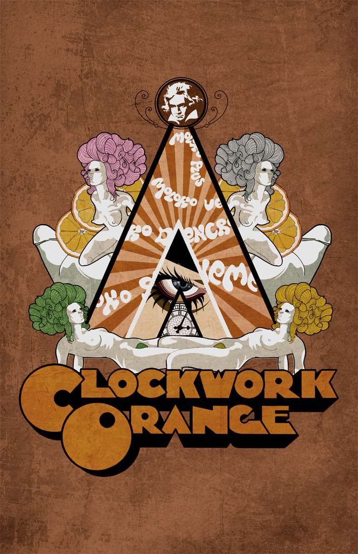 thepilgrimart:  A Clockwork Orange Poster