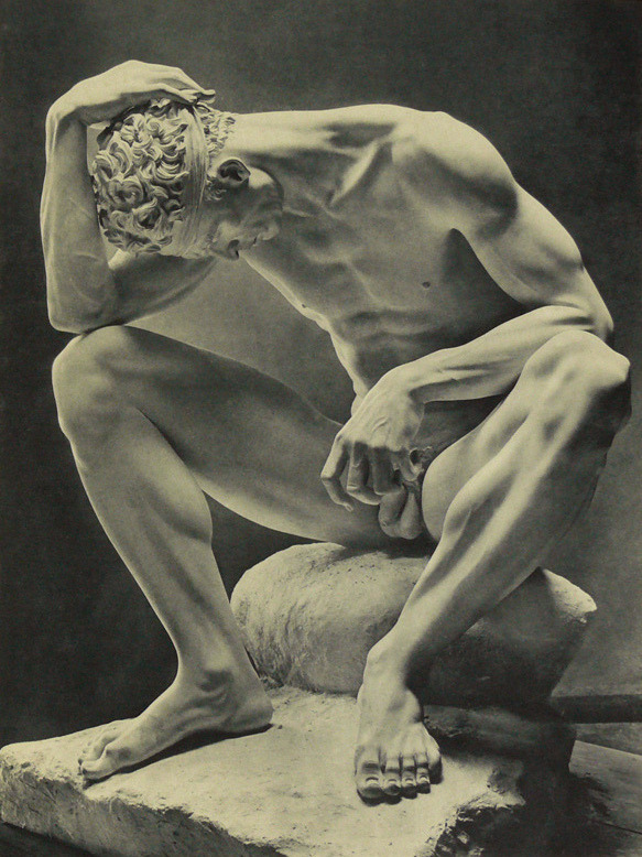 frankierising:  androphilia:  The Wounded By Arno Breker, 1938  I love curly hair. Even on statues.