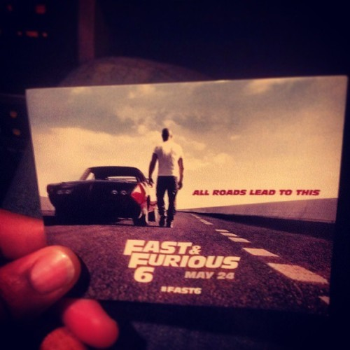 """FAST & FURIOUS 6"" WAS THE SICKEST &&  ILLEST MOVIE OF 2013 THUS FAR! BEST ONE OUT THE SERIES… CAN'T WAIT FOR 7!! It goes 1, 2, 4, 5, 6, 3, then 7"