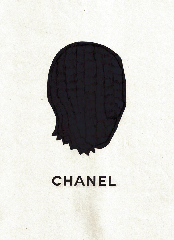 "upus:  Permanent marker on ""Chanel"" magazine advertisement, 2011Bryan Schnelle"